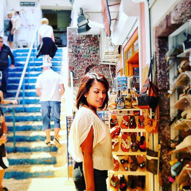 Shopping in #Santorini under the blazing #Summer sun.#PicOfTheDay #InstaDaily #Love #InstaPic #Sexy