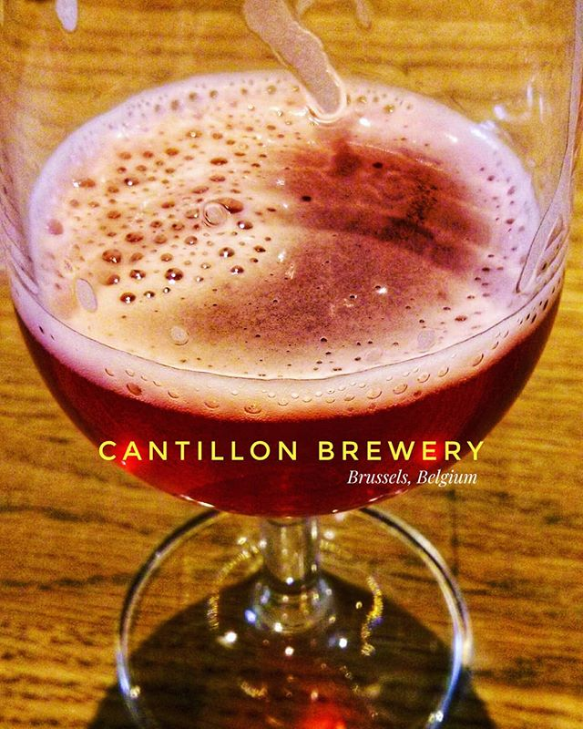 A visit to Cantillon Brewery in Brussels and trying the red fruit #beer for the first time.