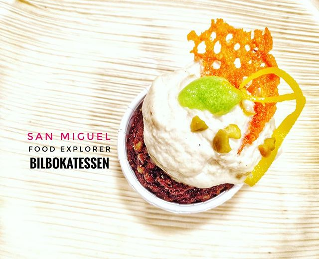 A very original #tapas in #SanMiguelBilbokatessen DUCK CUPCAKE. Very tasty with a touch of orange sauce. @sanmiguel_es #PicOfTheDay #InstaDaily #Love #InstaPic #Sexy #SponCon